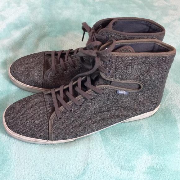 164ef21d15 Vans Hadley Canvas TEXTILE GREY Hi Top Skate Shoes.  M 5abaddc53800c56ee6c9a783